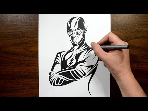 How to Draw the Flash - Tribal Tattoo Design Style