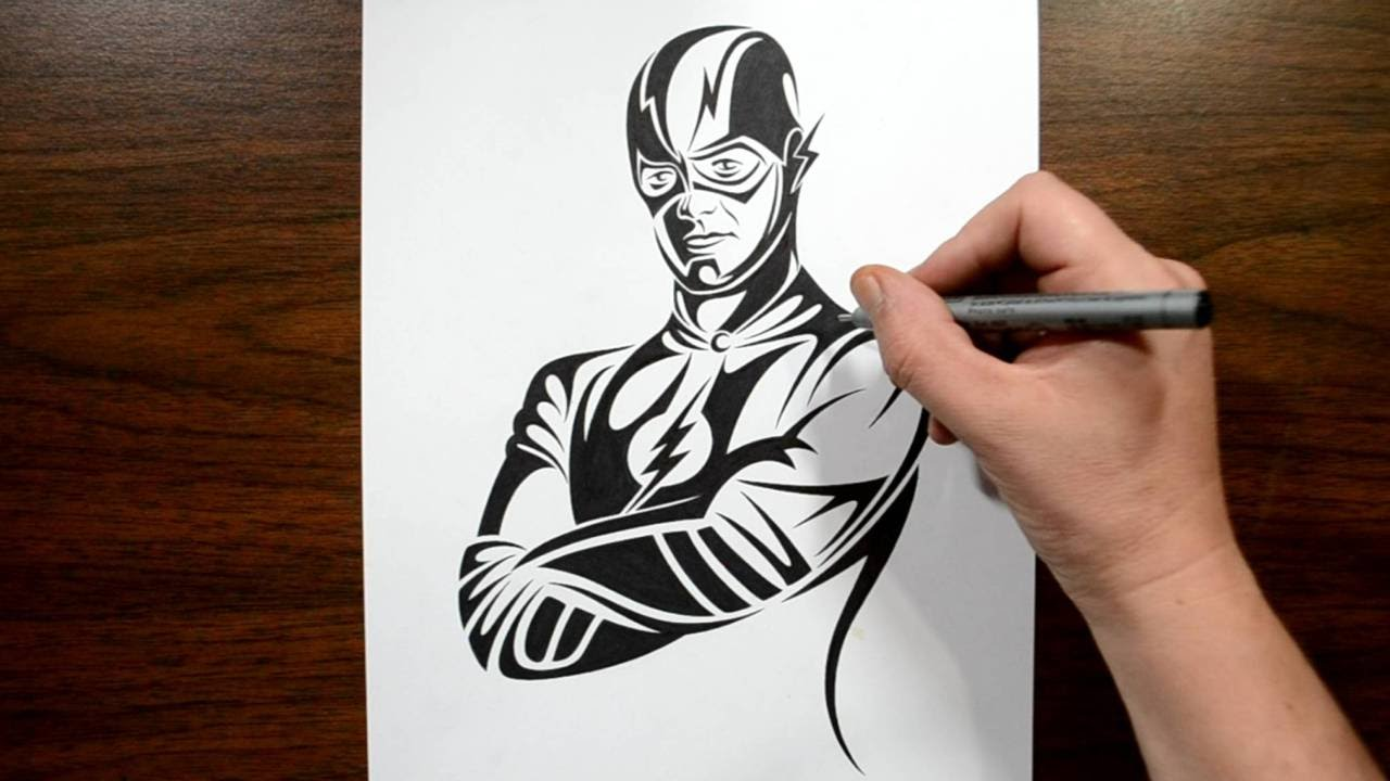 How to draw the flash tribal tattoo design style youtube for Cool art design ideas