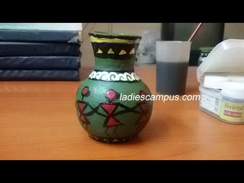 Pot paintings diy tutorial painting pottery pots for Clay mural designs