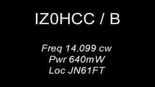 IZ0HCC Beacon 14.099 CW 640mWatt