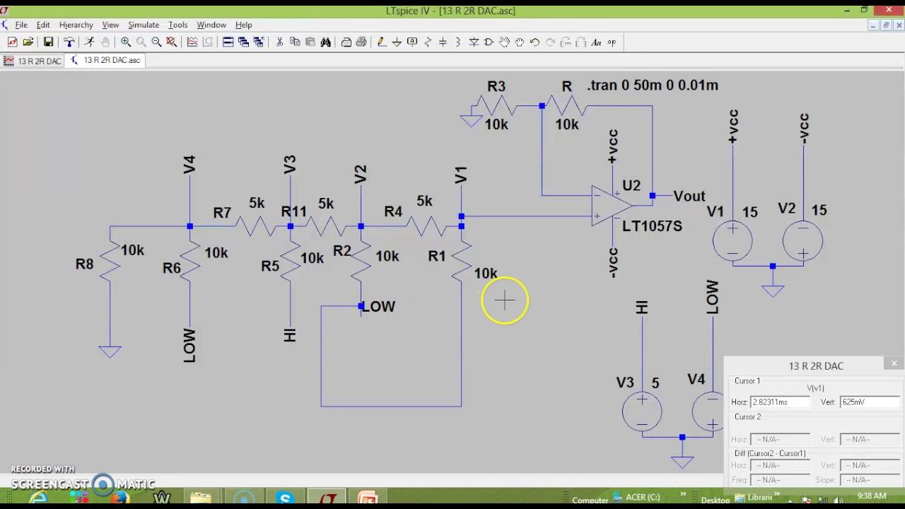 4 33 R 2r Dac Simulations Youtube Ladder Circuit Diagram