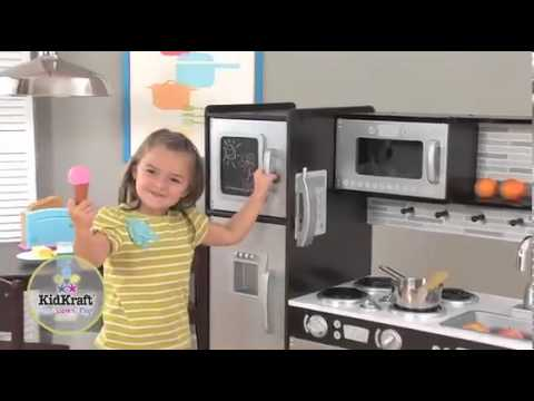 wonder toy kidkraft 53260 uptown espresso kitchen - youtube