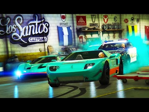 GTA 5 INSANE BUSTED POLICE VS ROBBERS - GTA 5 HUTN THE ROBBER WITH THE CREW