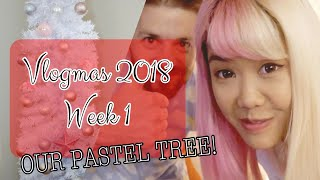 ♡ DECORATING OUR TREE & ICE SKATING | Vlogmas 2018 Week 1 | xsakisaki ♡