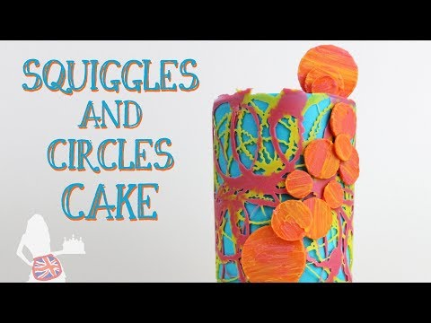 Squiggles And Circles Cake