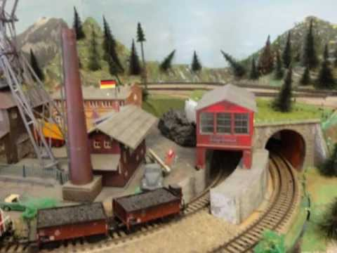 Model Train Layout Extremely Detailed HO Scale