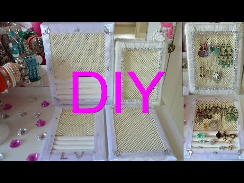 diy ohrringhalter ringhalter schmuckaufbewahrung schmuckhalterung accessory holder youtube. Black Bedroom Furniture Sets. Home Design Ideas