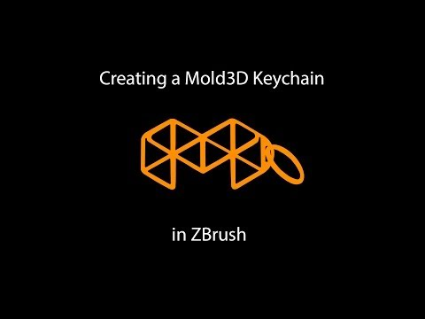 How to make your own Mold3D printed keychain in ZBrush