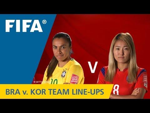 Brazil v. Korea Republic - Team lineups EXCLUSIVE