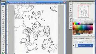 Basic Photoshop Use & Basic Map Coloring -- part 1