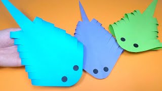 Moving Paper Fish Stingray | Paper Craft For Kids