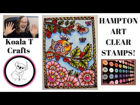 Hampton Art Stamps and Spectrum Noir Coloring