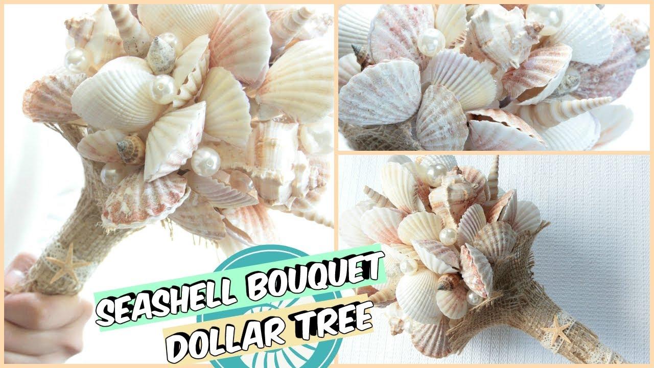 Dollar Tree Seashell Bouquet Tutorial Diy Youtube
