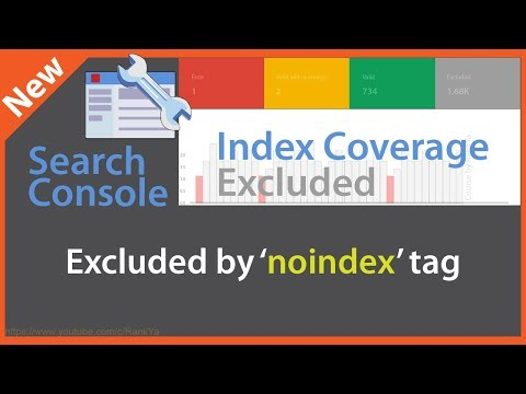Excluded By NOINDEX Tag - Search Console