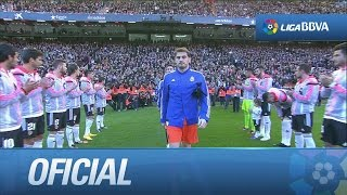 El Valencia CF le hace el pasillo al Real Madrid por el Mundialito de Clubes