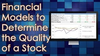 Financial Models to Determine Quality of a Stock