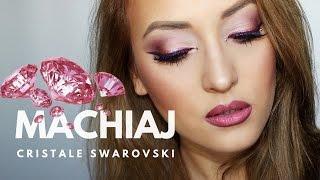 Machiaj de party in nuante de roz & cristale Swarovski || Pink Holiday Look