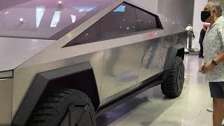 CyberTruck by Tesla in LA at Petersen Auto Museum 6/20/2020