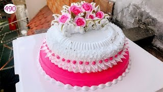 decorating bettercreme cake (490) Học Bánh Gía Rẻ Đẹp Và Nhanh (490)