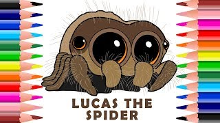 Drawing And Coloring Lucas The Cutest Spider