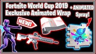Fortnite Youtube Rewards: Redline Wrap and Animated Spray, World Cup 2019 Cosmetics, Showcase!