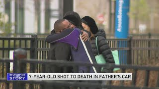 7-year-old shot and killed in father's car on West Side