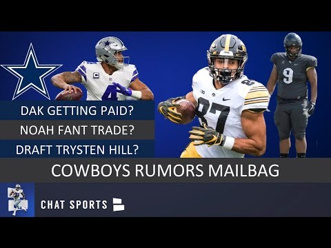on sale b0f60 c1942 Cowboys Rumors: Dak Prescott Contract, Noah Fant Trade, Trysten Hill & 2019  NFL Draft | Mailbag
