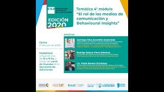 """ESA 2020 - Módulo Central 4 - """"El rol de los medios de comunicación y Behavioural Insights"""""""