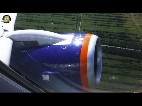 POWERFUL Takeoff of PowerJet SaM146, the Sukhoi Superjet engine [AirClips]