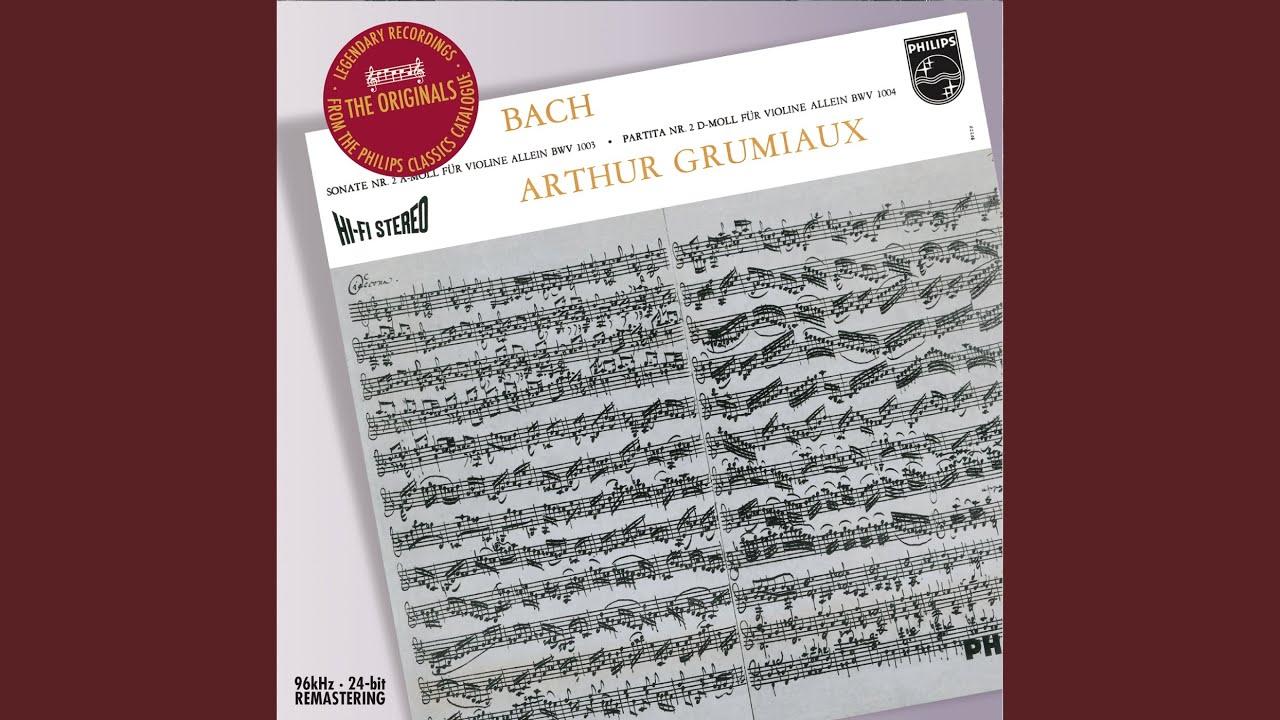 Arthur Grumiaux - J.S. Bach: Sonatas For Solo Violin