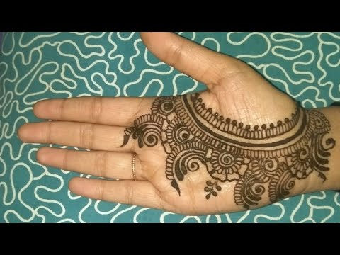 Simple Henna Design For Palm 4 By Divya Makwana Simple Mehndi