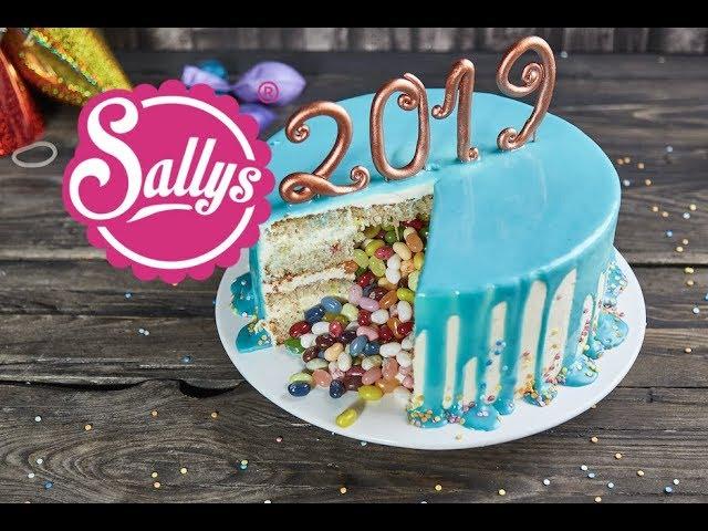 Drip Cake / Silvester Torte mit Überraschung / Sallys Welt