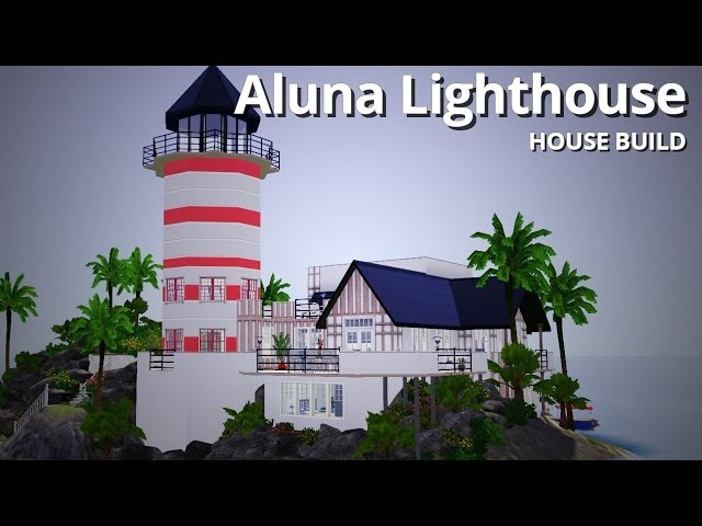 The Sims 3 House Building - Aluna Lighthouse - Aluna Island