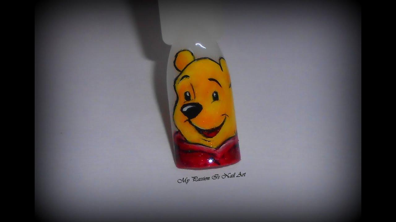Tutorial Winnie the pooh sulle unghie e su carta , Winnie the Pooh nails ,  YouTube