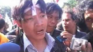 Demonstrasi 100 Hari Pemerintahan SBY-Boediono
