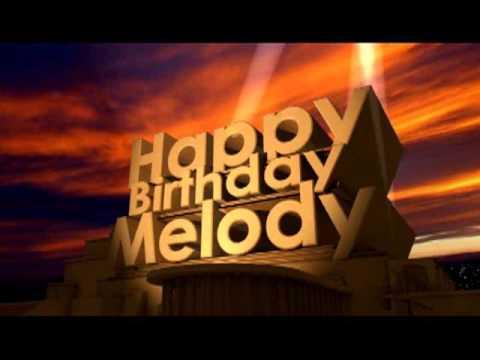 Happy Birthday Melody Cake