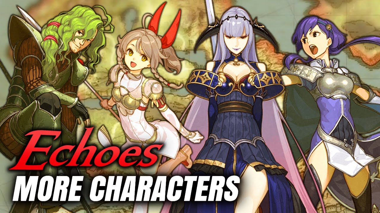 New DLC Characters: Emma, Randal, Shade and Yuzu from Cipher Collaboration!  - Fire Emblem Echoes