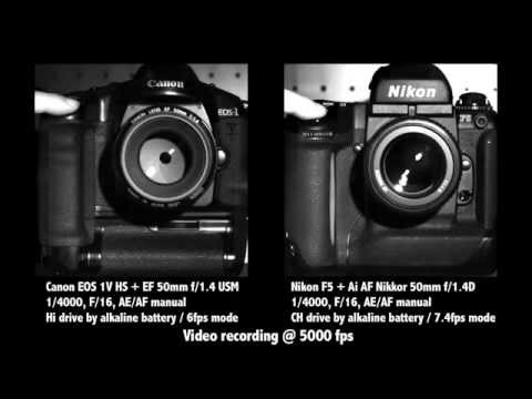 Download Youtube: Canon EOS-1V HS vs Nikon F5 Slow-motion@5000fps