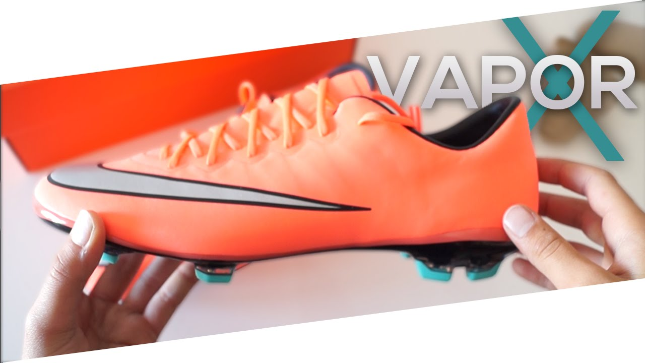 promo code a4566 fa153 Unboxing NEW 2016 - Nike Mercurial Vapor X FG Junior -Bright Mango/Hyper  Turquoise/Metallic Silver - YouTube