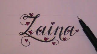 cursive fancy letters how to draw a name - example