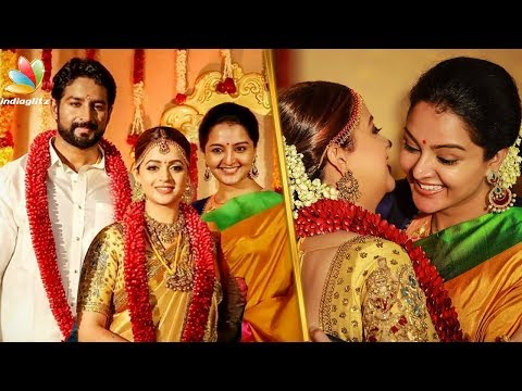 Manju Warrier attend Bhavana - Naveen Reception   Ramya Nambeesan, Mammootty   Wedding Video