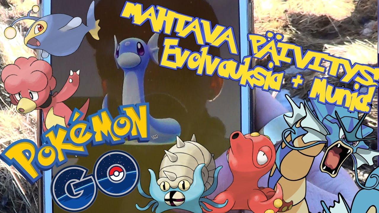 Pokemon GO Suomi - MAHTAVA PÄIVITYS! EVOLVAUKSIA + 10Km & 5Km Munia! - YouTube