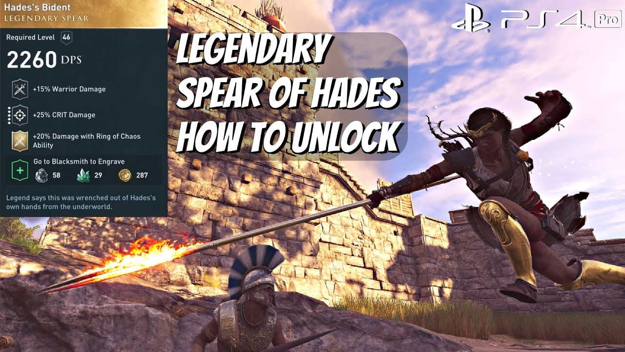 Assassin S Creed Odyssey Legendary Spear Of Hades Location Gameplay Hades S Bident Ps4 Pro Youtube