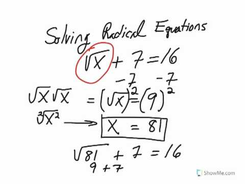 1.Solving Radical equations (no extraneous solutions