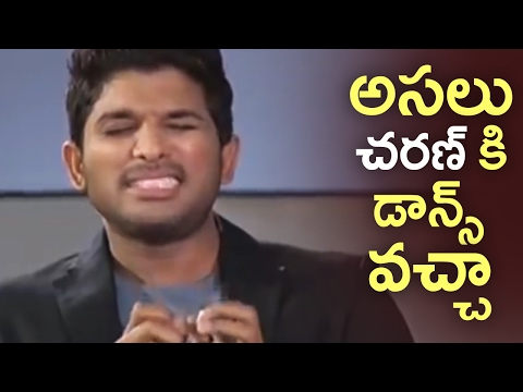 Allu Arjun Satirical Comments On Ram Charan Dance | Unseen Video | TFPC