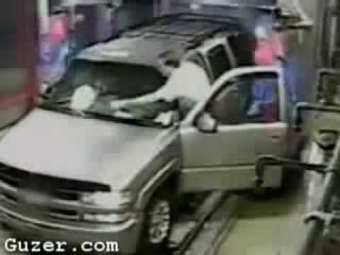 Accident By Open Door While Car Wash Youtube