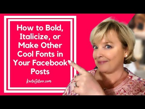 How To Bold Text On Facebook - Short And Sweet