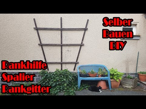 rankhilfe spalier rankgitter selber bauen youtube. Black Bedroom Furniture Sets. Home Design Ideas