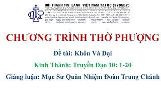 HTTL KINGSGROVE (Úc Châu) - Chương Trình Thờ Phượng Chúa - 17/10/2021