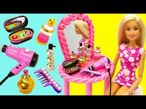 DIY Barbie Hacks and Crafts. Miniature DIY Things for Dolls